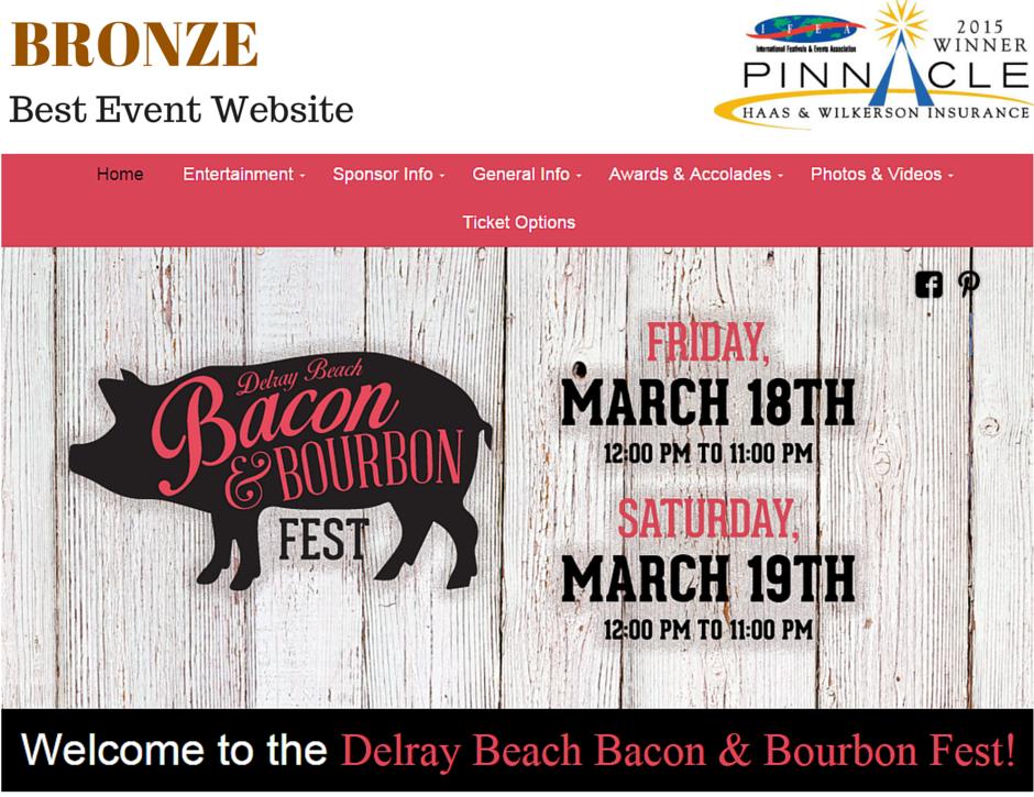 Bronze - Best Event Website - B&B